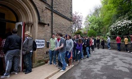 sheffield hallam polling station queue