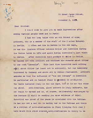 Guardian at 190 years: The Guardian 190th anniversary, Voight-Crozier letter