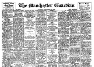 Guardian at 190 years: The Guardian 190th anniversary, Front page 1952