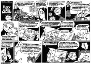 Guardian at 190 years: Posy Simmonds cartoon, Piggy In The Middle