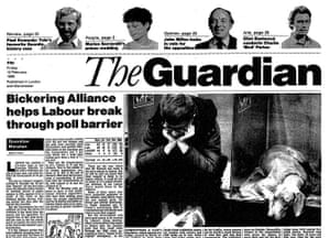 Guardian at 190 years: The Guardian front page design in 1988