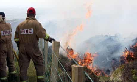 Gorse fires in County Antrim, Northern Ireland