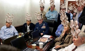 Photoshopped image of Obama's situation room