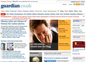 Guardian at 190 years: Guardian Unlimited front page