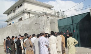 Osama bin Laden's compound in Abbottabad, Pakistan, which has become a tourist attraction