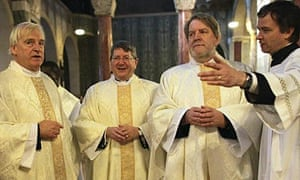 Former Church of England bishops ordained as Catholic priests