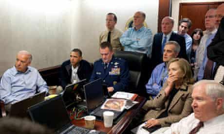 Barack Obama, Joe Biden, Hillary Clinton and others receive an update on the mission Osama bin Laden
