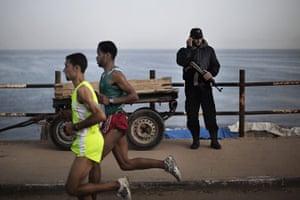 gaza marathon: Nader Masri