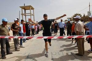 gaza marathon: Sebastien Trives, deputy director of UNRWA's Gaza operations