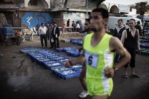 gaza marathon: Palestinian Olympic athlete Nader Masri
