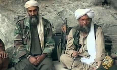 Osama bin Laden (left) with his top lieutenant Ayman al-Zawahiri, in pictures shown in October 2001