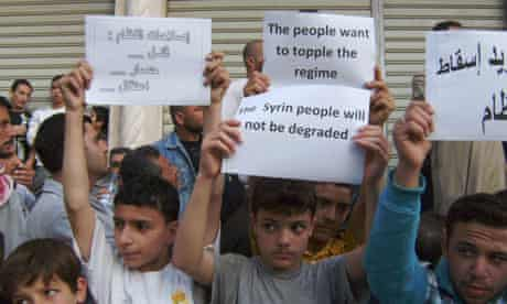 Protest in Banias, Syria