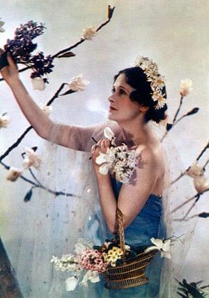 Madame Yevonde: Lady Anne Rhys poses as the goddess Flora