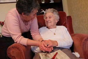 Carers UK members: Sue Cuomo cares for her mother in Sutton