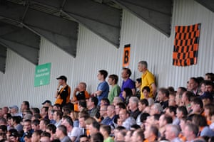 Barnet v Port Vale: It's scoreless in the 2nd half so there's tension in the stands