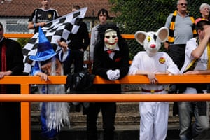 Barnet v Port Vale: Fans at Barnet v Port Vale in fancy dress
