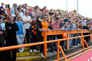 Barnet v Port Vale: A packed house at Underhill for the Barnet v Port Vale match