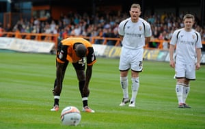 Barnet v Port Vale: Izale McLeod composes himself before taking the penalty
