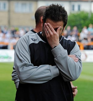 Barnet v Port Vale: Barnet caretaker manager Guiliano Grazioli can't bear to watch