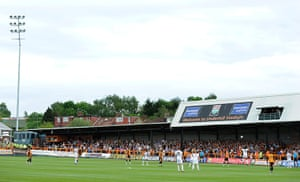 Barnet v Port Vale: The famous sloping Barnet pitch