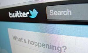 Twitter on a screen