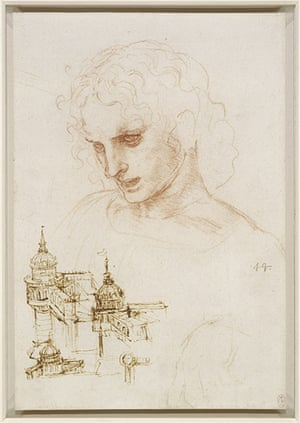 leonardo da vinci : Sketch of a Youth (used for the Head of Saint James) by Leonardo