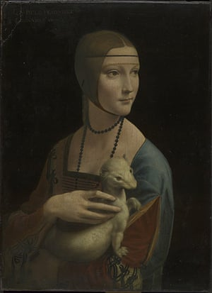 leonardo da vinci : ortrait of Cecilia Gallerani (The Lady with an Ermine) by Leonardo