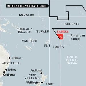 Samoa, international dateline