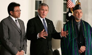 Pervez Musharraf and George Bush, Osama bin Laden death