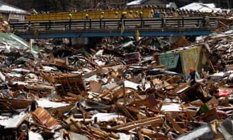 Aftermath of Japanese tsunami