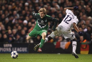 Top 50 transfer targets: Werder Bremen's Marko Marin in action against Tottenham Hotspur
