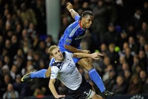 Top 50 transfer targets: Chelsea's Didier Drogba shoots past Spurs' Michael Dawson to score