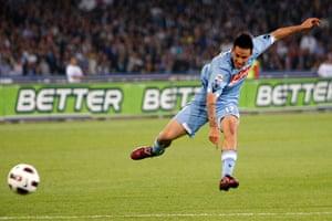 Top 50 transfer targets: Napoli's Marek Hamsik fires in a shots against Inter Milan