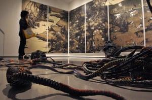 Venice biennale: A piece by artist Yang Jiechang at Palazzo Grassi