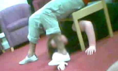 A handout photo, issued by the BBC, of a screen grab from the investigation into care home abuse