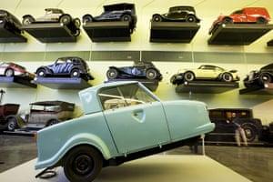 Riverside Museum Glasgow: various motor vehicles