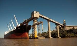 Cargo ship in Argentina
