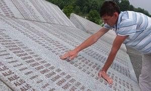 The memorial cemetery, Potocari, near Srebrenica, where 8,000 were killed in 1995