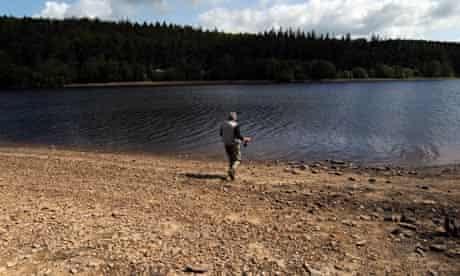 Fewston Reservoir with fallen levels, Harrogate