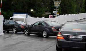 Limousines arrive at Bilderberg 2011