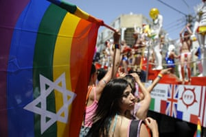 Gay Pride in Tel Aviv: People take part in the annual Gay Pride parade