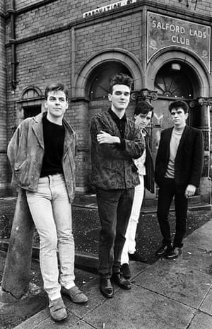 Smiths: Smiths outside Salford Lads Club