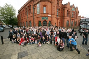 Smiths: Smiths fans outside Salford Lads Club