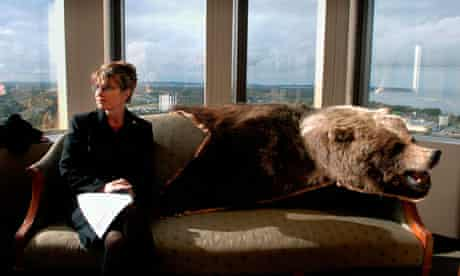 Sarah Palin, Governor of Alaska, in her office in Anchorage