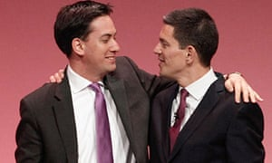 David Miliband is embraced by his brother Ed at the Labour party conference in September 2010