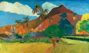 Tahitian Landscape by Paul Gauguin.