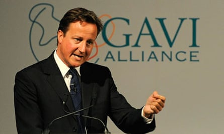 David Cameron speaks at the Global Alliance for Vaccines and Immunisation