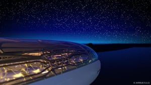 Airbus in 2050: The exterior view of an 'intelligent' concept cabin