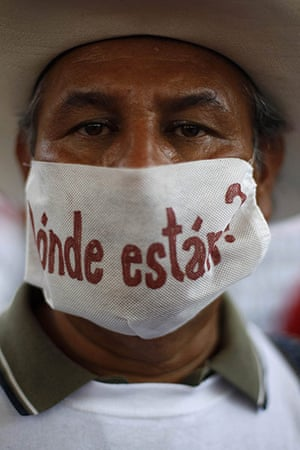 FTA: Tomas Bravo: A relative of a disappeared man takes part in a peaceful protest in Torreon