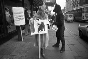 Friends of the Earth: anti-fur demonstration